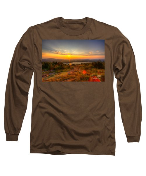 Cadillac Mountain Sunset Acadia National Park Bar Harbor Maine Long Sleeve T-Shirt