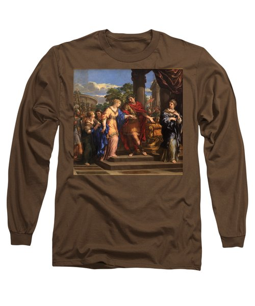 Caesar Giving Cleopatra The Throne Of Egypt, C.1637 Oil On Canvas Long Sleeve T-Shirt