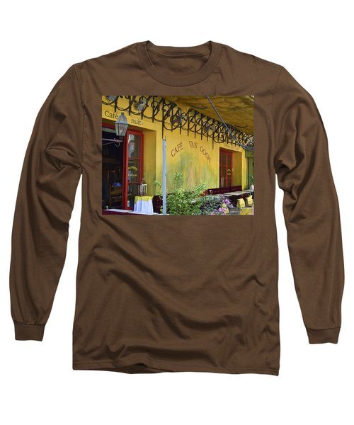 Long Sleeve T-Shirt featuring the photograph Cafe Van Gogh by Allen Sheffield