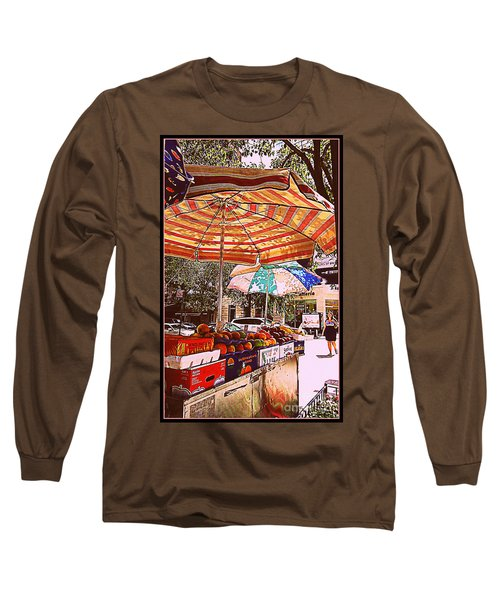 Long Sleeve T-Shirt featuring the photograph California Oranges by Miriam Danar