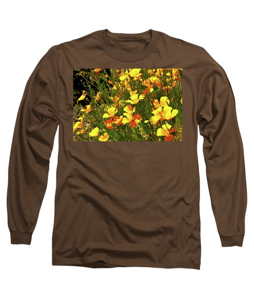 California Poppies Long Sleeve T-Shirt by Ed  Riche