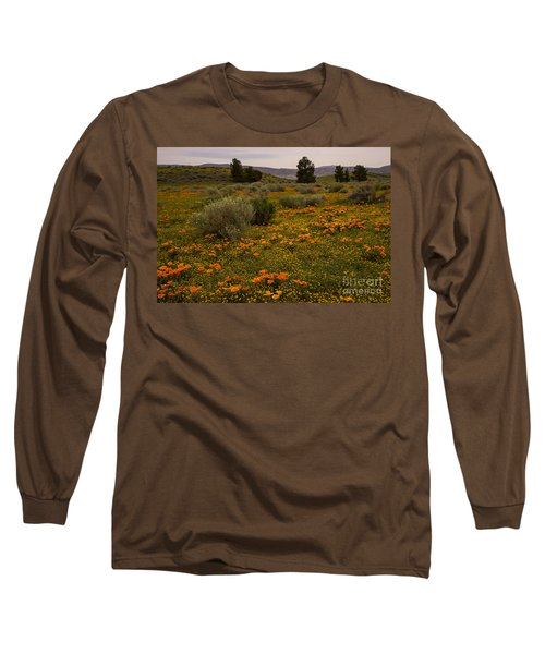 California Poppies In The Antelope Valley Long Sleeve T-Shirt