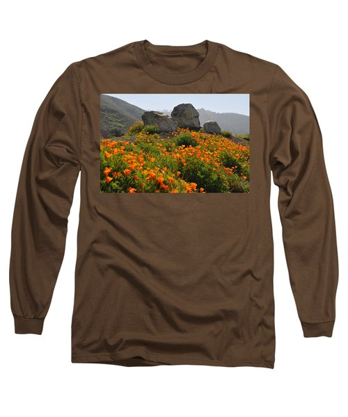 Long Sleeve T-Shirt featuring the photograph California Poppies by Lynn Bauer