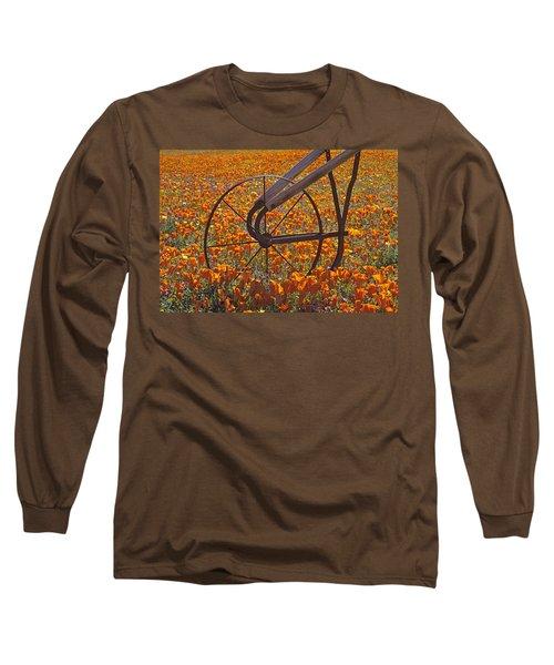 California Poppy Field Long Sleeve T-Shirt