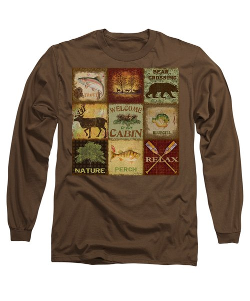 Call Of The Wilderness Long Sleeve T-Shirt by Jean Plout