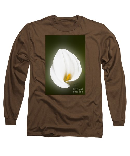 Calla Lily Flower Glow Long Sleeve T-Shirt