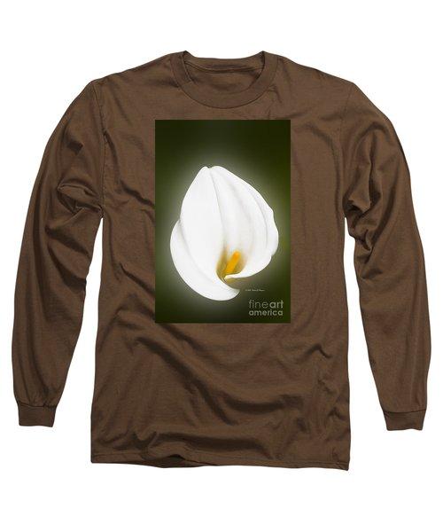 Calla Lily Flower Glow Long Sleeve T-Shirt