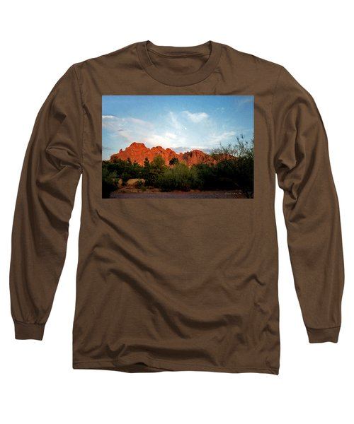 Camelback Mountain And Moon Long Sleeve T-Shirt