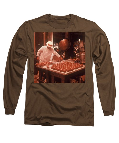 Long Sleeve T-Shirt featuring the photograph Candy Apple Man by Rodney Lee Williams