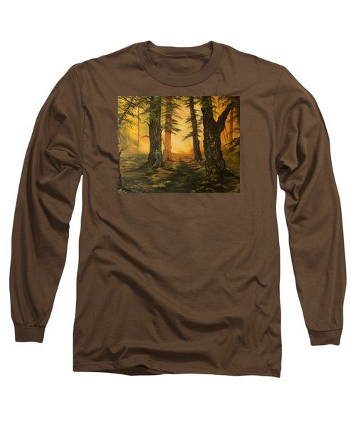 Cannock Chase Forest In Sunlight Long Sleeve T-Shirt by Jean Walker