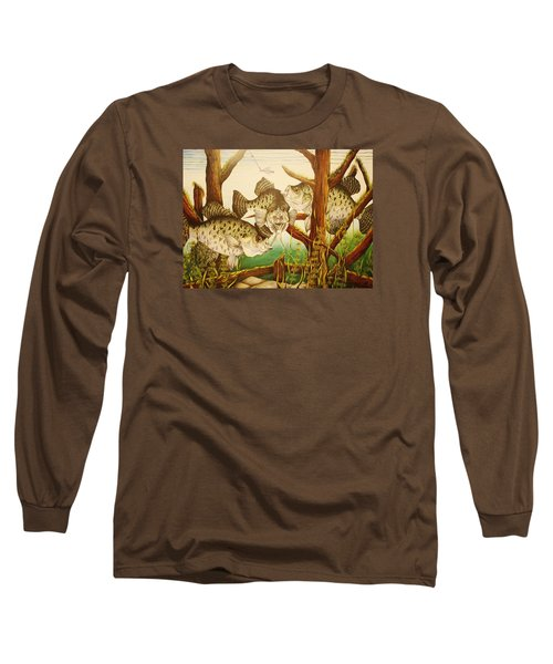 Captivating Crappies Long Sleeve T-Shirt by Bruce Bley