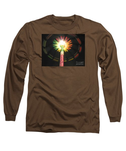 Long Sleeve T-Shirt featuring the photograph Carnival Ride At Night by Connie Fox