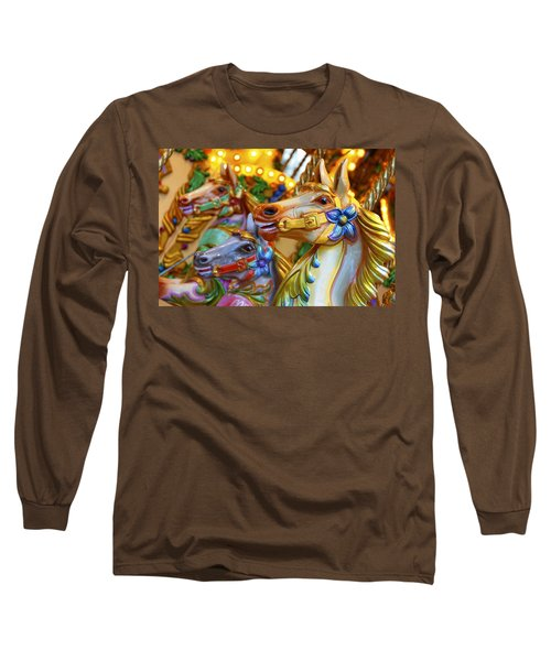 Carousel Horses Long Sleeve T-Shirt
