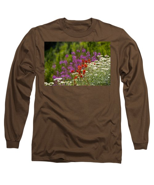 Long Sleeve T-Shirt featuring the photograph Cascade Wildflowers by Sean Griffin