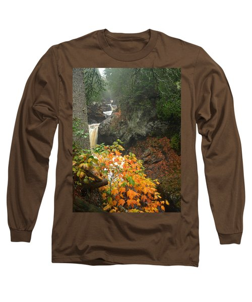Long Sleeve T-Shirt featuring the photograph Cascading Steps by James Peterson