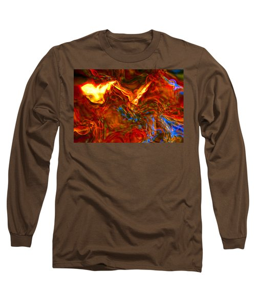 Long Sleeve T-Shirt featuring the digital art Cat And Caduceus In The Matmos by Richard Thomas