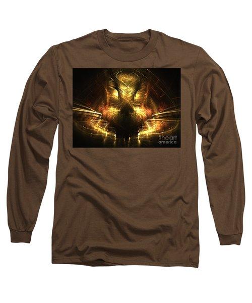 Cat Long Sleeve T-Shirt by Kim Sy Ok