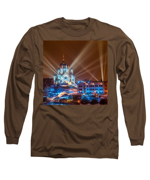 Cathedral Of St Paul Ready For Red Bull Crashed Ice Long Sleeve T-Shirt by Paul Freidlund