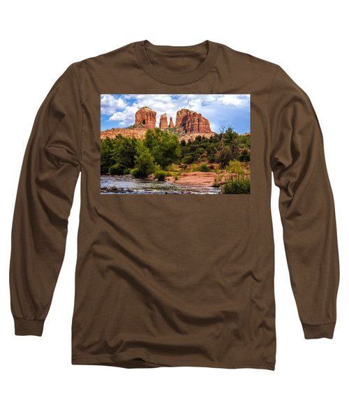 Cathedral Rock Long Sleeve T-Shirt by Fred Larson