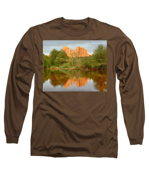 Long Sleeve T-Shirt featuring the photograph Cathedral Rocks Reflection by Alan Vance Ley