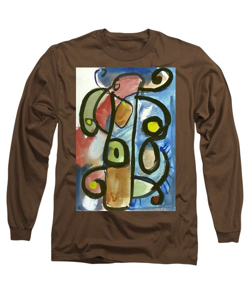 Cello In Blue Long Sleeve T-Shirt by Stephen Lucas