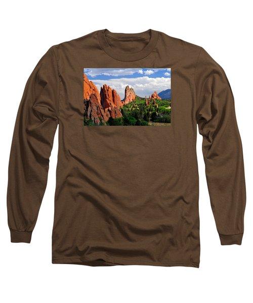 Central Garden Of The Gods Park Long Sleeve T-Shirt by John Hoffman