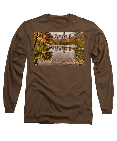 Central Park In The Fall New York City Long Sleeve T-Shirt