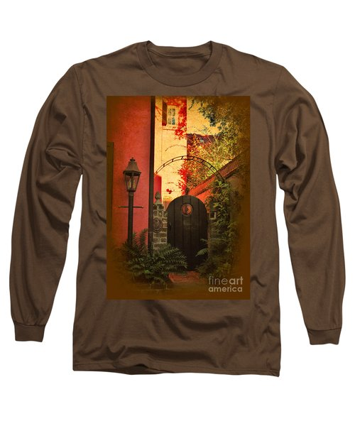 Long Sleeve T-Shirt featuring the photograph Charleston Garden Entrance by Kathy Baccari