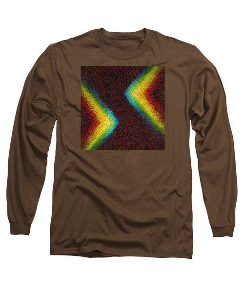 Chevron Double Rainbow C2014 Long Sleeve T-Shirt by Paul Ashby