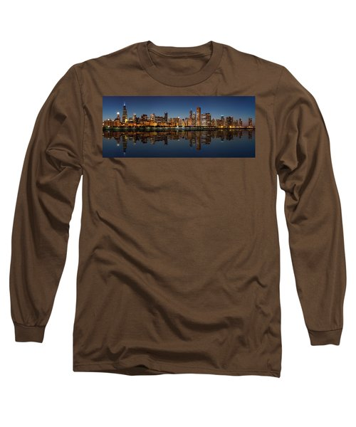 Chicago Reflected Long Sleeve T-Shirt by Semmick Photo