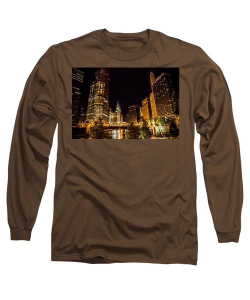 Chicago Riverwalk Long Sleeve T-Shirt by Melinda Ledsome