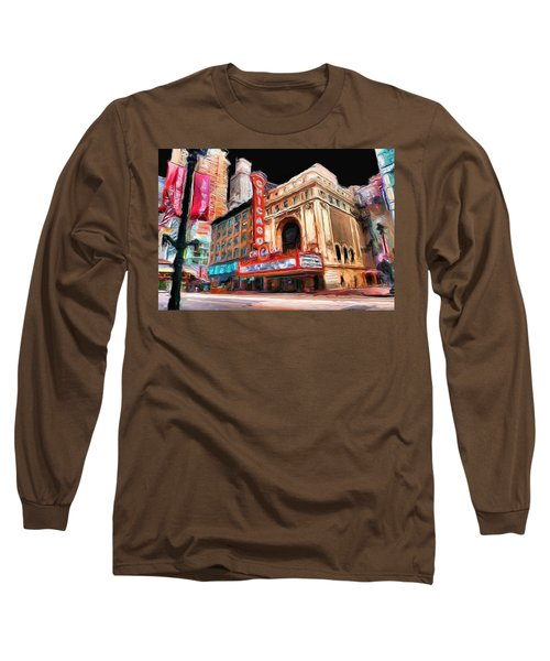 Chicago Theater - 23 Long Sleeve T-Shirt by Ely Arsha