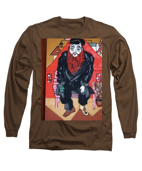 Long Sleeve T-Shirt featuring the painting Chigall By Nora by Nora Shepley