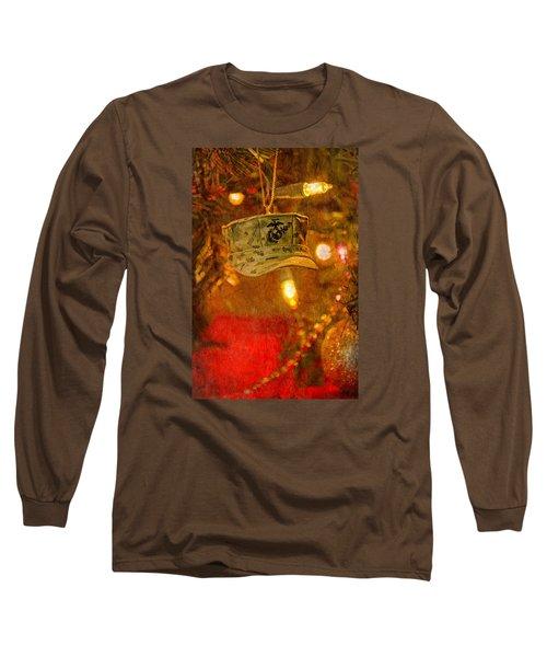 Christmas Cover  Long Sleeve T-Shirt by Susan  McMenamin