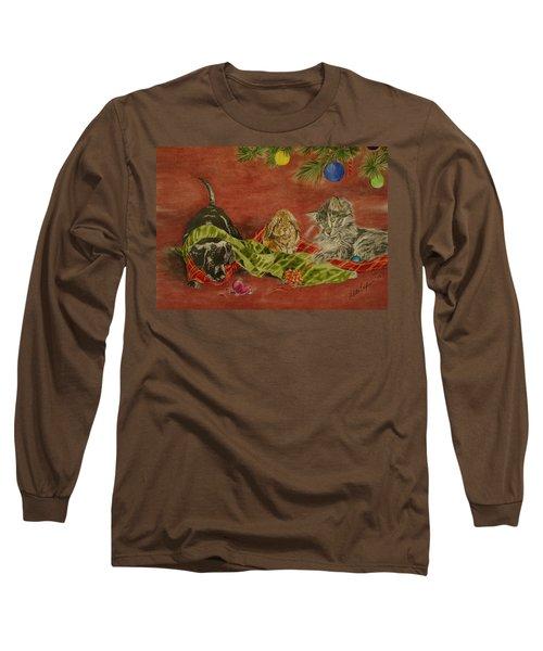 Christmas Friends Long Sleeve T-Shirt by Melita Safran