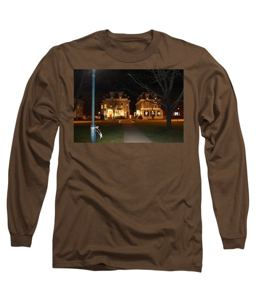 Christmas In Town Long Sleeve T-Shirt by Catie Canetti