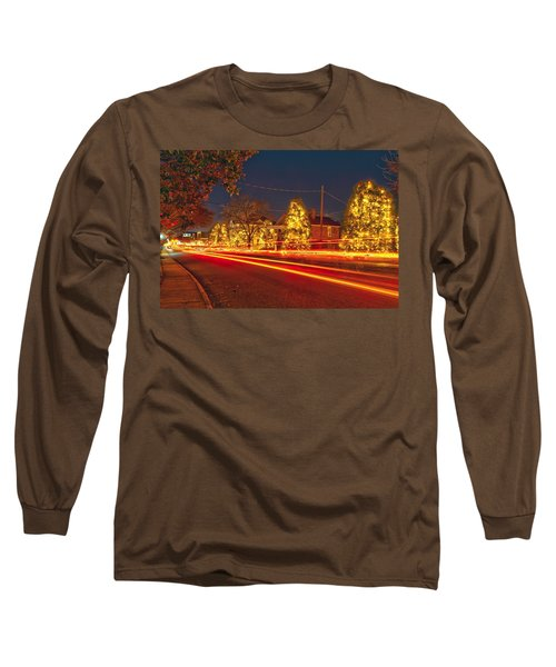 Long Sleeve T-Shirt featuring the photograph Christmas Town Usa by Alex Grichenko