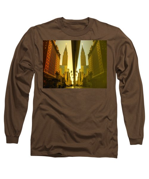Chrysler Reflection On 42nd Street Long Sleeve T-Shirt
