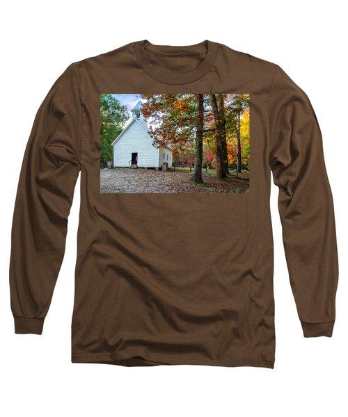 Church In Fall Long Sleeve T-Shirt