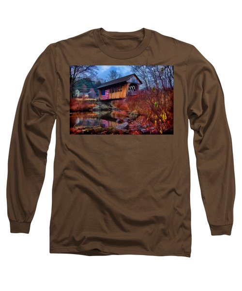 Cilleyville Covered Bridge Long Sleeve T-Shirt