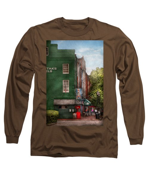 City - Baltimore - Fells Point Md - Bertha's And The Greene Turtle  Long Sleeve T-Shirt