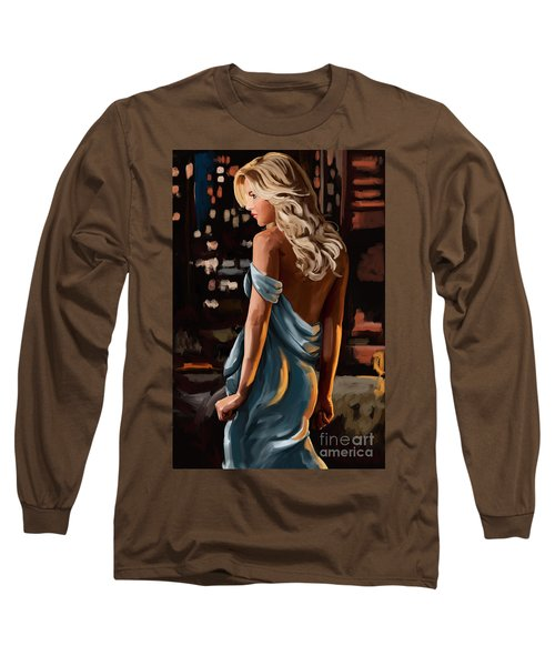 Long Sleeve T-Shirt featuring the painting City Girl by Tim Gilliland