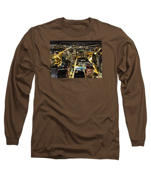Long Sleeve T-Shirt featuring the photograph Cityscape Golden Burrard Bridge Mdlxiv by Amyn Nasser
