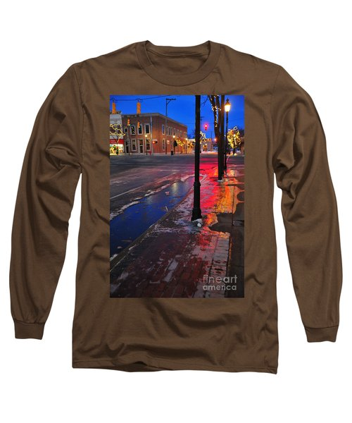 Clare Michigan At Christmas 10 Long Sleeve T-Shirt by Terri Gostola