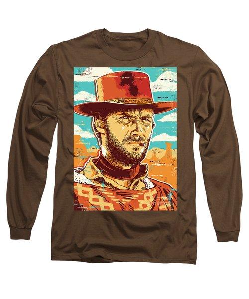 Clint Eastwood Pop Art Long Sleeve T-Shirt