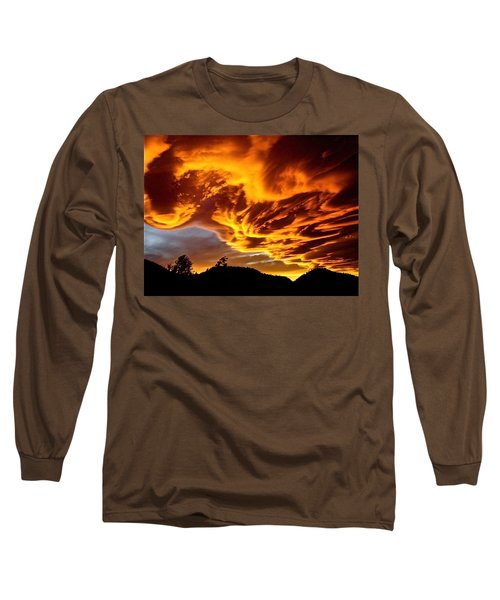 Long Sleeve T-Shirt featuring the photograph Clouds 2 by Pamela Cooper