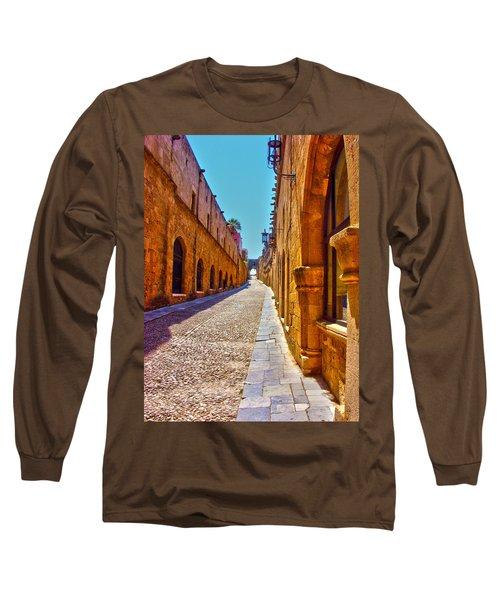 Rhodes Cobbled Street Long Sleeve T-Shirt