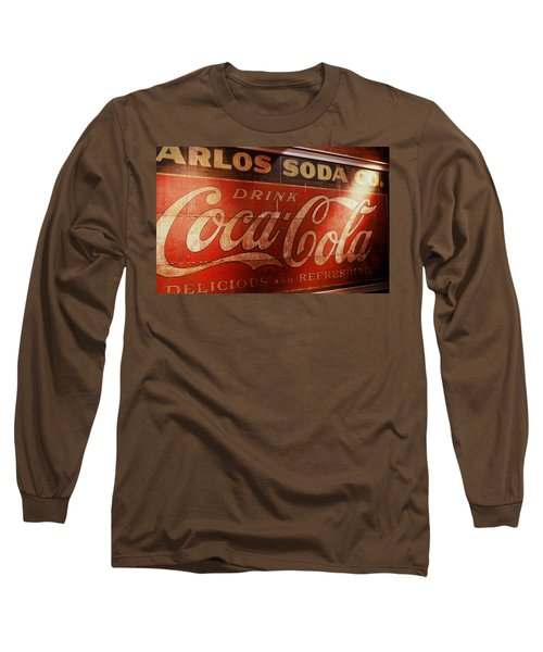 Long Sleeve T-Shirt featuring the photograph Coca Cola Sign by Rodney Lee Williams