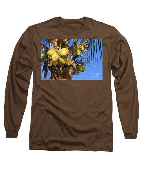 Coconut 2 Long Sleeve T-Shirt by Teresa Zieba