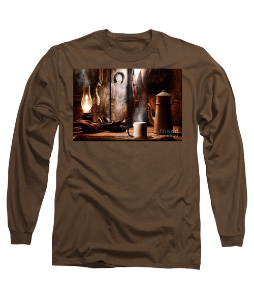 Coffee At The Cabin Long Sleeve T-Shirt